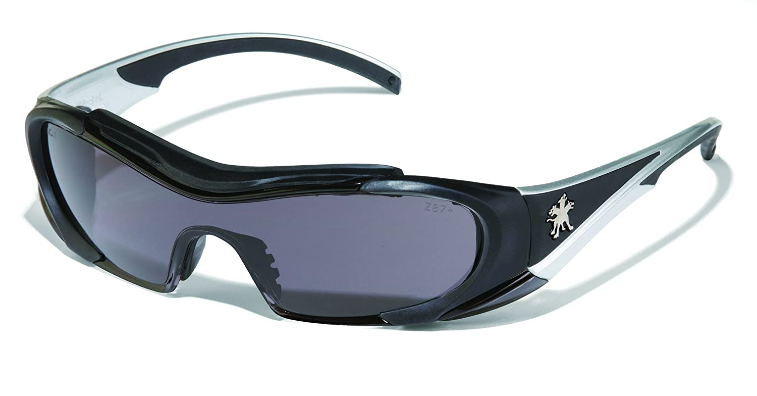 MCR Safety HL112AF Hellion Thermoplastic Rubber Safety Glasses with Black Frame and Gray Anti-Fog Lens 12-Pair