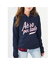 Aeropostale Aero NY Women Long Sleeve Full Zip Hoodie Sweat Shirt 7493