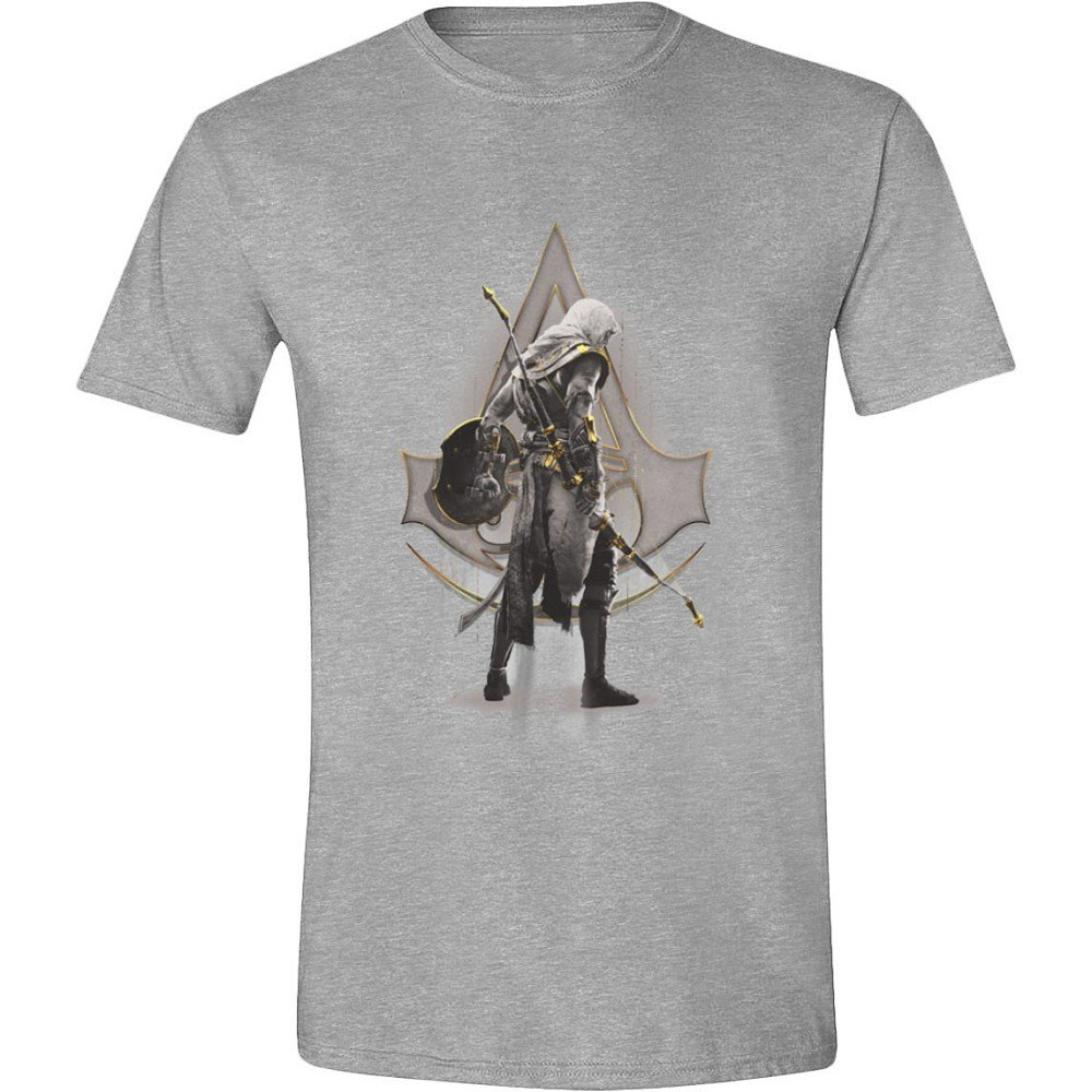 Assassin's Creed: Origins - Bayek Stance Hombres Camiseta - Gris Heather