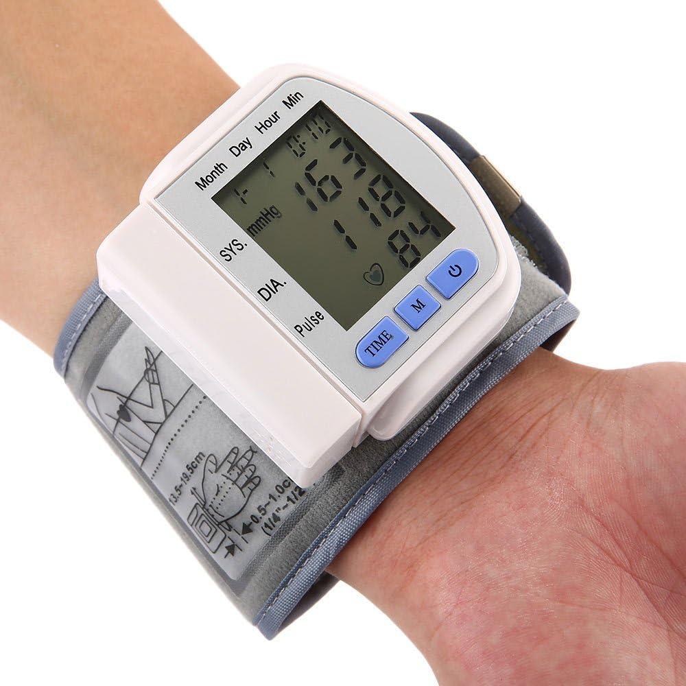 Monitor De Presión Arterial En La Muñeca - BP Completamente Automático Con Monitorización Irregular Del Ritmo Cardíaco, Muñequera Ajustable Y Estuche Portátil Perfecto Para El Control De La Salud