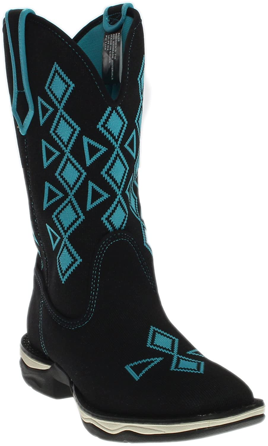 Laredo Women's Venturer Performair Woven Western Boot Square Toe - 5950 B01LX6ACXW 9 B(M) US|Black
