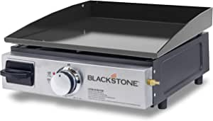 Blackstone Table Top Grill - 17 Inch Portable Gas Griddle - Propane Fueled - For Outdoor Cooking While Camping, Tailgating or Picnicking