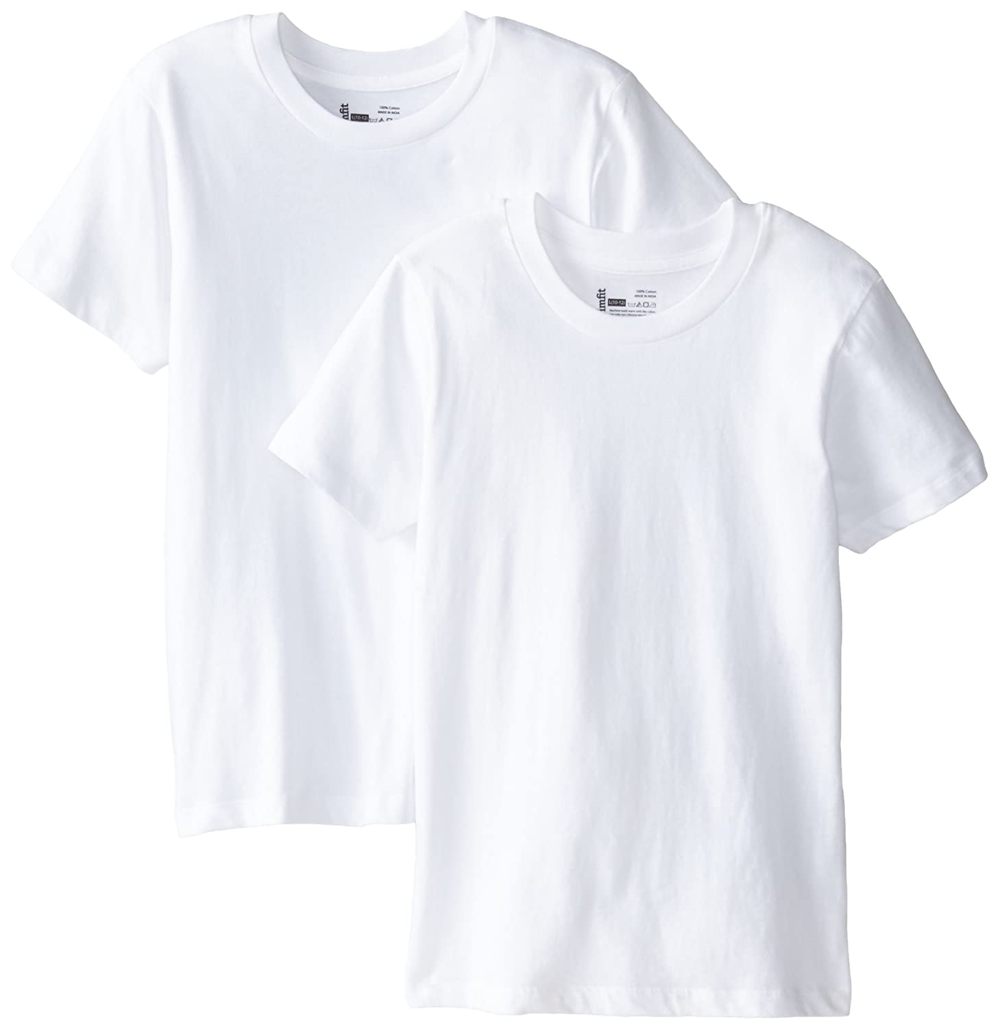 Trimfit Boys Big ' Combed Cotton T-Shirts 2-Pack 86000