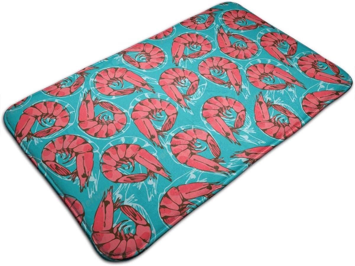 Amazon Com 20 X 31 Non Slip Absorbent Memory Foam Bath Mat Shrimp Seafood Area Rug Carpet For Home Decor Kitchen Entry Indoor Outdoor Living Room Home Kitchen