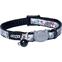 Rogz Reflectocat Safeloc Collar Black Cat 8mm