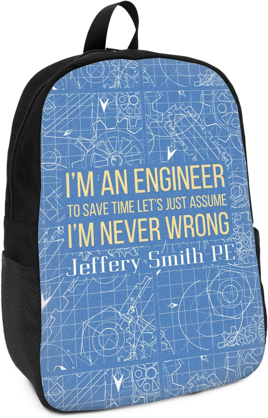 Engineer Quotes Kids Backpack Personalized