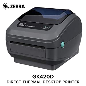 Zebra GK420d Direct Thermal Desktop Printer Print Width of 4 in USB and Ethernet Port Connectivity GK42-202210-000