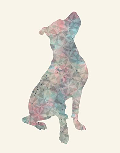Pitbull Wall Art Available in Various Sizes and Colors - Pitbull Decor For  a Home, Nursery or Office - Pit Bull Watercolor Print - A Perfect Gift for
