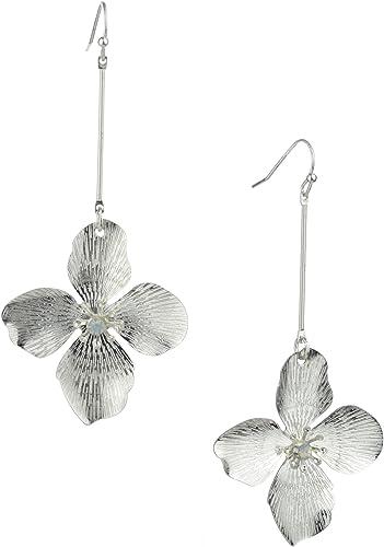 Rhinestone Earrings Shimmering Earrings Sparkly Earrings Floral Earrings Copper Earrings Dangling Earrings Scroll Floral Jewelry