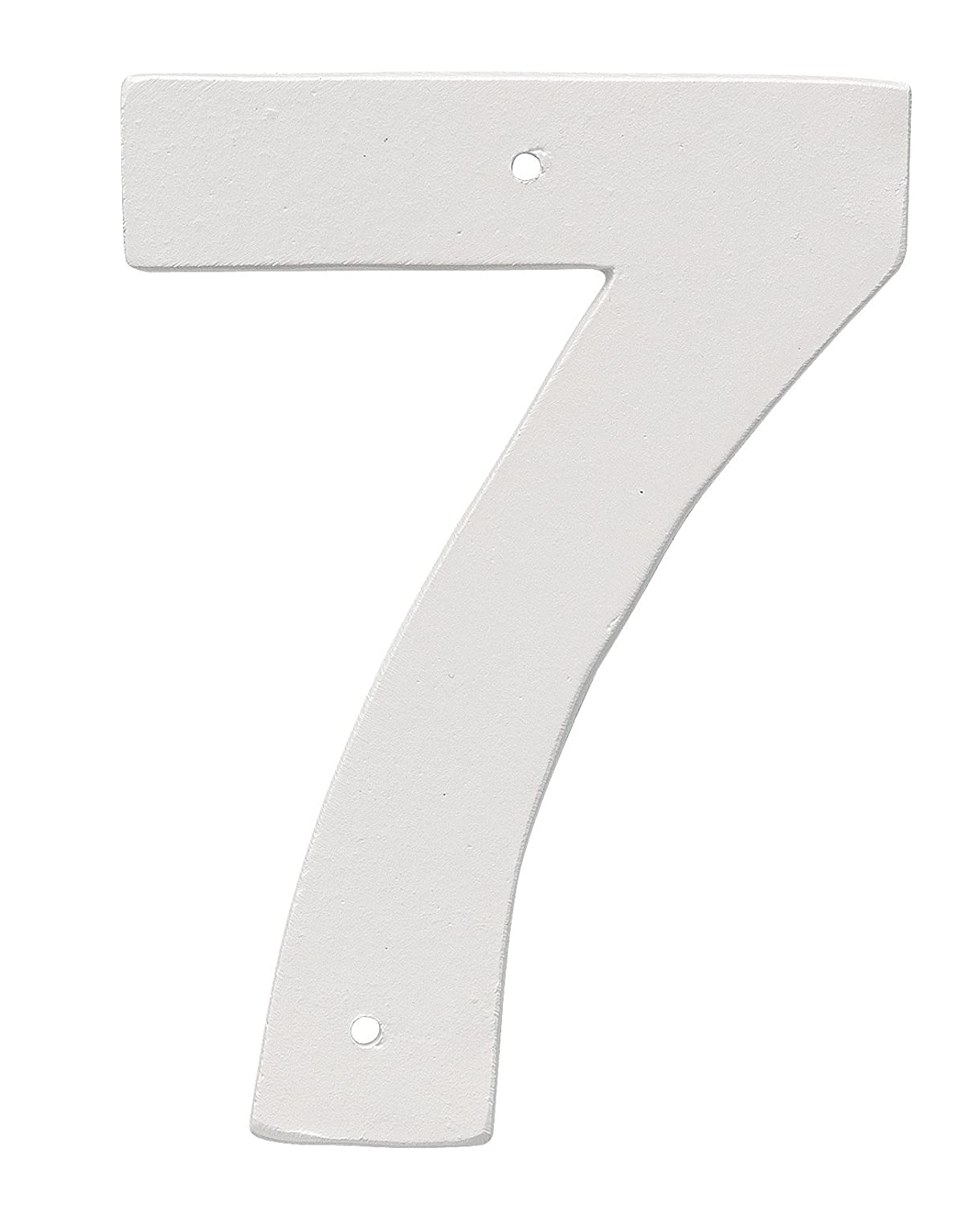 Montague Metal Products 6' Aluminum House Number 7 Outdoor Plaque, Medium, White