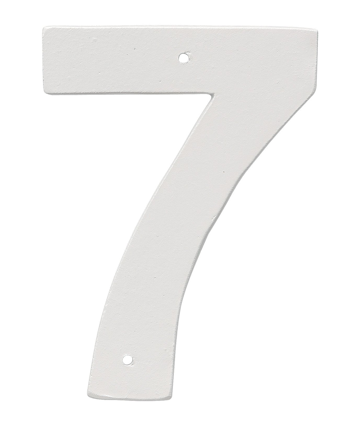 Montague Metal Products 6'' Aluminum House Number 7 Outdoor Plaque, Medium, White