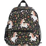 e148e51b909 ZZKKO Cute Flower Unicorn Kids Backpack School Book Bag for Toddler Boys  Girls
