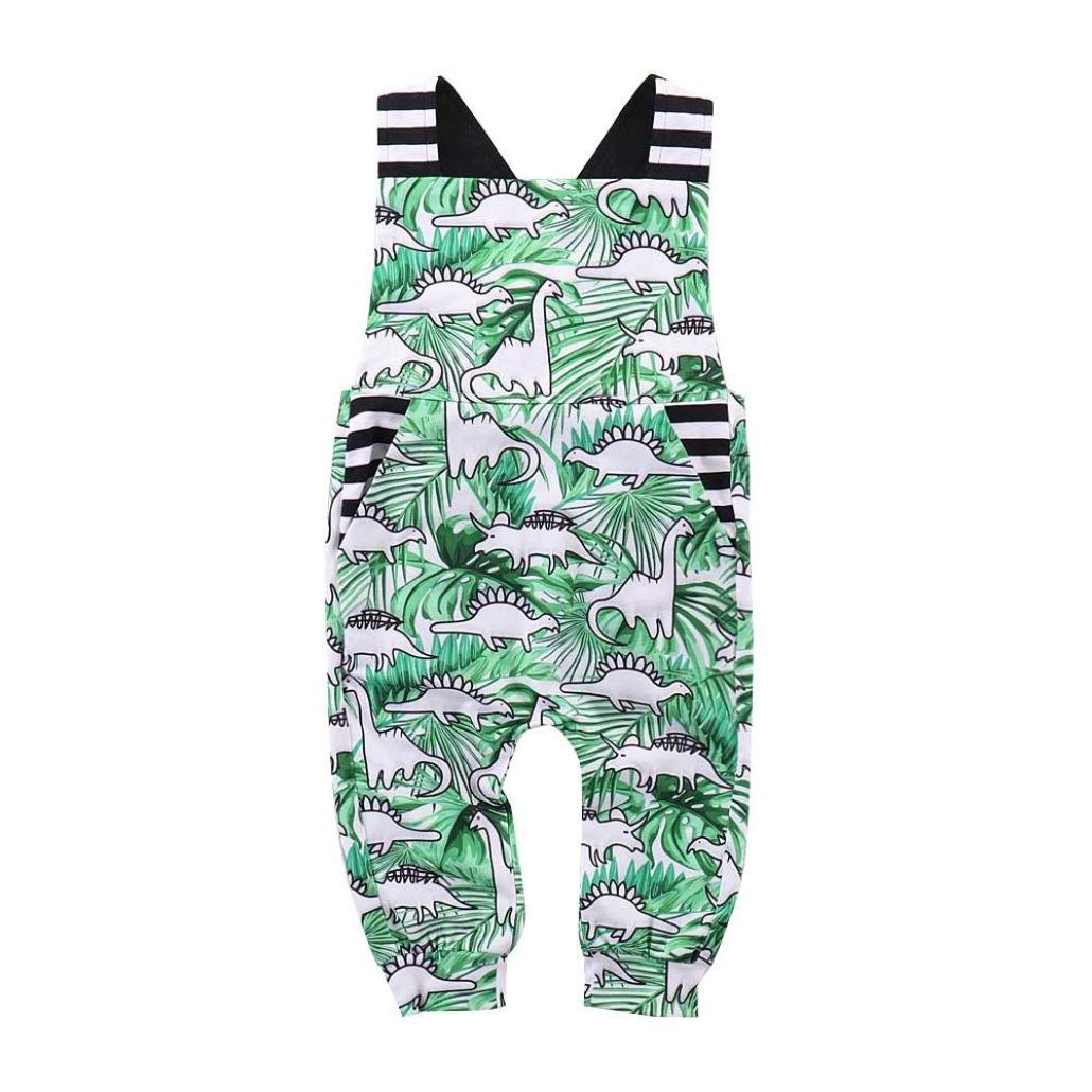 Vincent&July Baby Boys Girls Romper Dinosaur Backless Sleeveless