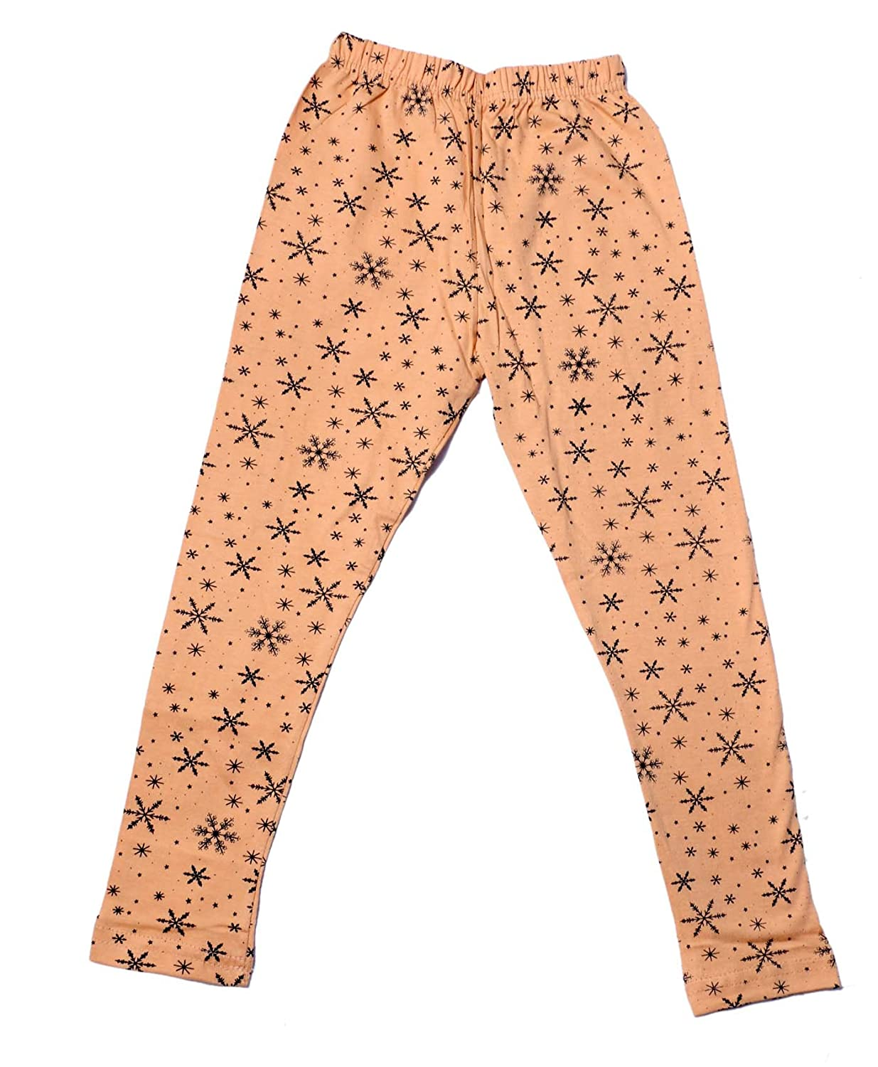 Indistar Girls 2 Cotton Solid Legging Pants /_Multicolor/_Size-11-12 Years/_71413141920-IW-P4-34 Pack Of 4 and 2 Cotton Printed Legging Pants
