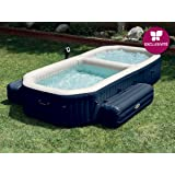 Intex PureSpa - Spa con piscina hinchable, 3.86 x 2.57 x 71 cm, 120 burbujas Spa, 150 burbujas piscina (28492)