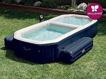 Whirlpool outdoor aufblasbar  Intex Pure Bubble Spa 28492 inklusive Pool Whirlpool Jacuzzi ...