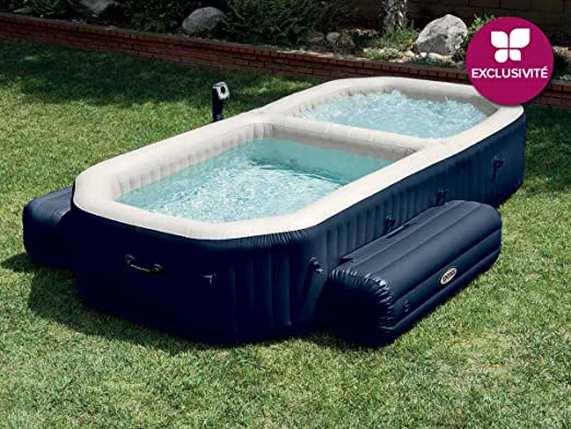 Intex PureSpa - Spa con piscina hinchable, 3.86 x 2.57 x 71 ...