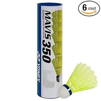 Amazon.com: YONEX Mavis 350 nailon bádminton con tapa azul ...