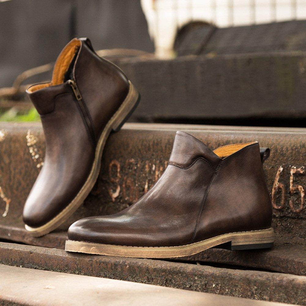 GTYMFH Herbst Echtes Echtes Echtes Leder Männer Stiefelies Chelsea Stiefel Vintage Lederstiefel 85d7ad
