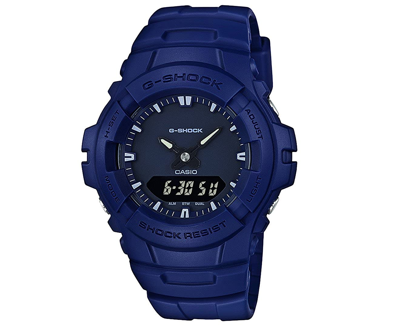 Amazon.com: Casio G-shock Analog Digital Blue Mens Watch With Date and 200 Meter Water Resistant G100CU-2A: Watches