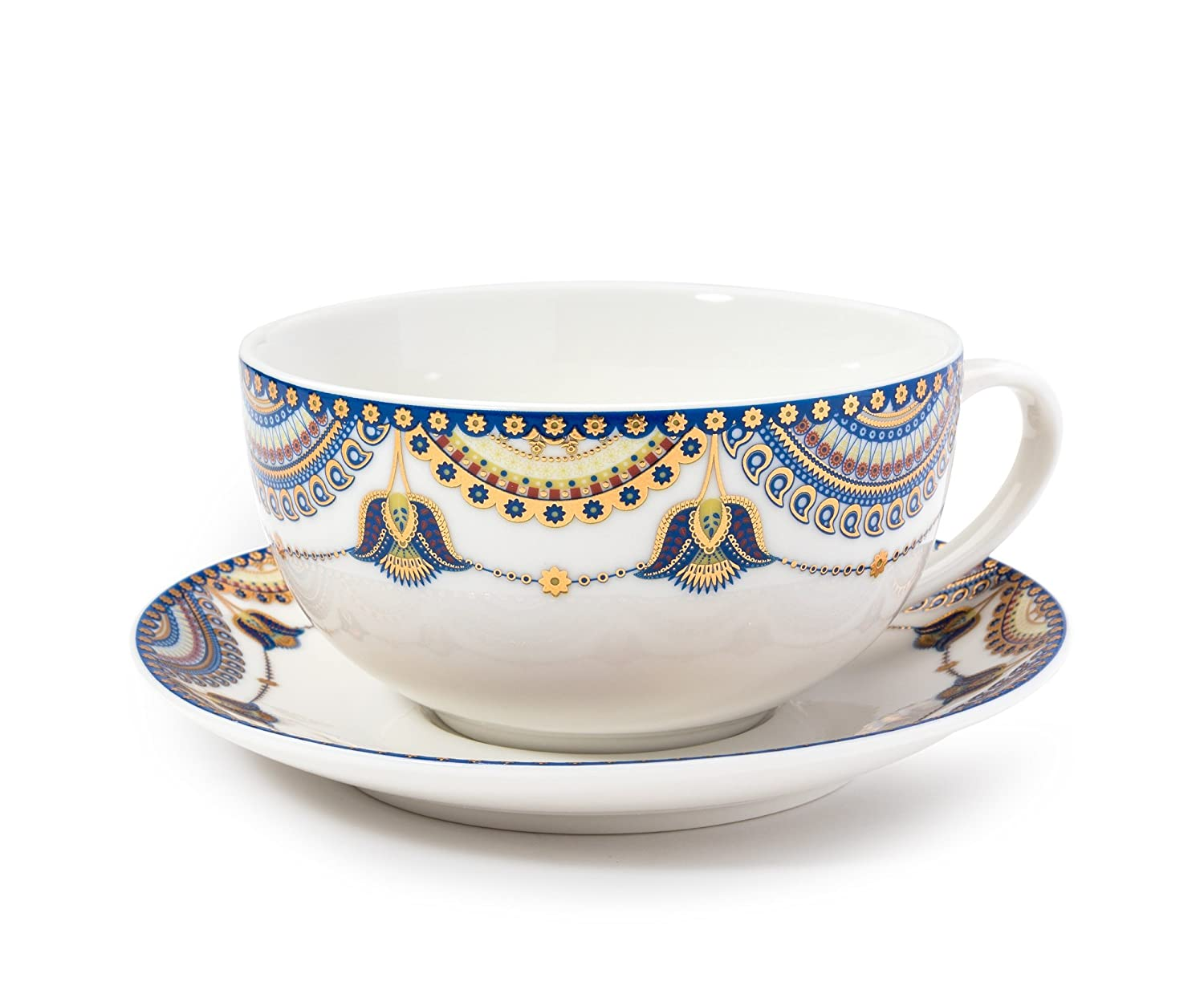 Amazon.com | Pretty Little Teacups Tea For One Set in Gift Box White/Blue:  Tea-For-One Sets