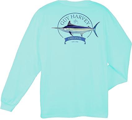 6e35bf27 Amazon.com: Guy Harvey Men's Members Only Long Sleeve Pocket T-Shirt ...