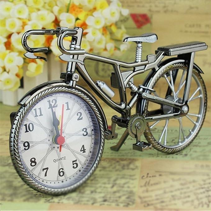 Vintage árabe numeral Retro de Bicicleta creativo reloj de alarma ...