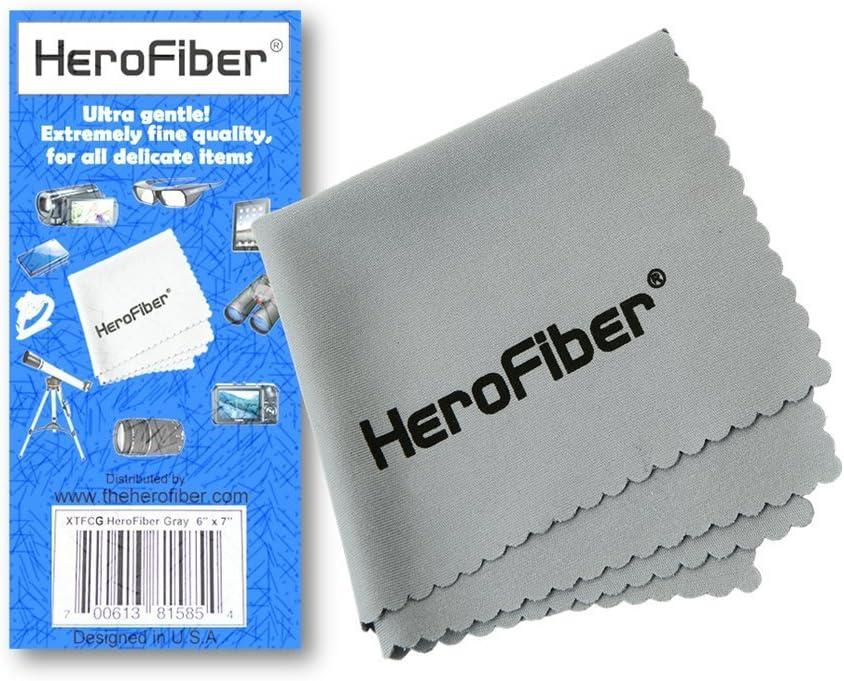 HeroFiber High Capacity Replacement Nikon EN-EL14 Battery and AC//DC Quick Charger Kit for Nikon P7100 Digital Camera
