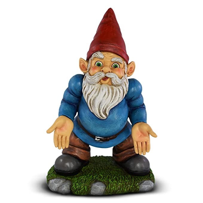UpBlend Outdoors' Garden Gnome - Norm The Lawn gnome has Some SERIOUS Questions - 9.75 inches Tall