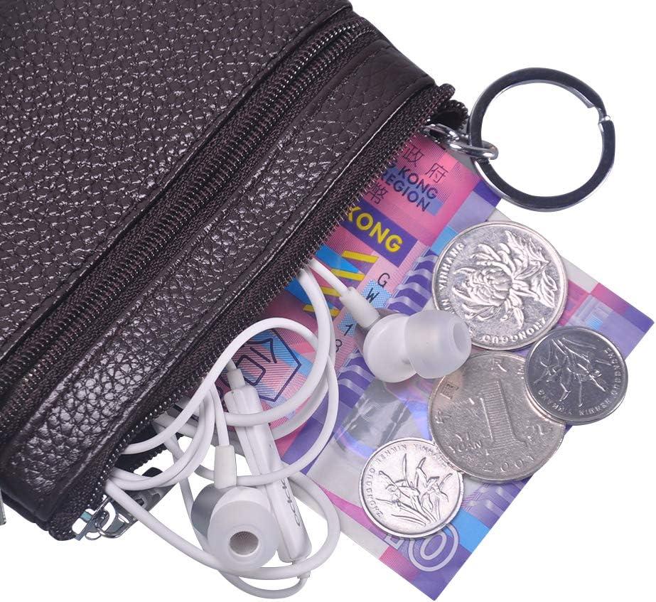 Fermeture Éclair Pu Cuir Durable clés Sac Coin Porte-monnaie porte-carte Mini Porte-monnaie