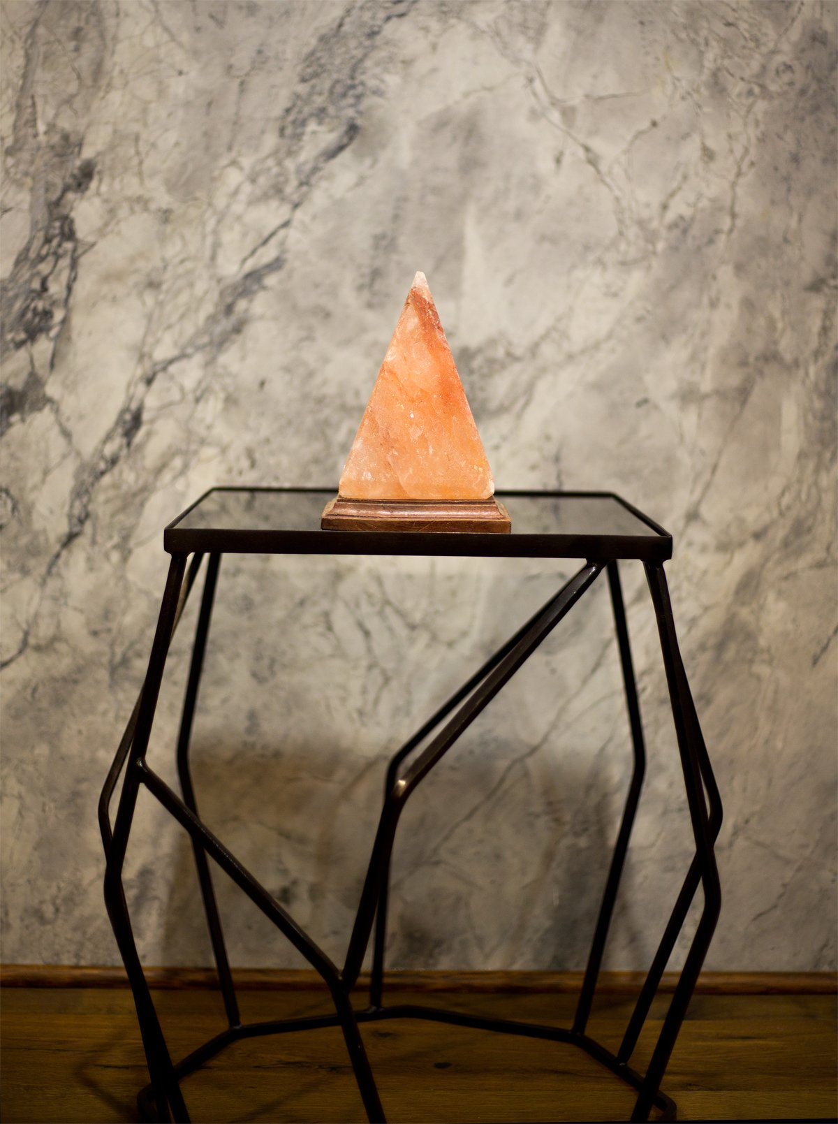 Natural Himalayan Salt Lamp Pyramid Hand Crafted by Ambient Authentic Natural Crystal Salt Rock with UL Listed Dimmer Switch