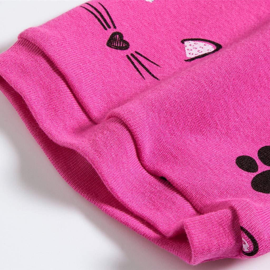 Pollyhb Summer Baby Boys Girls Cat Short Sleeve Tee Short Pants 12 Months-7 Years