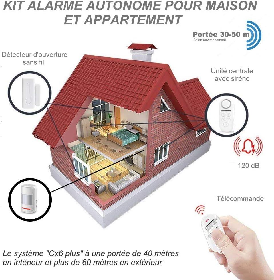 Home i Connect 8 Autocollants Application TUYA ou Smart Life Gratuite pour Notification dAlerte sur T/él/éphone Android et I Phone D/étecteur dOuverture Wi-FI Compatible Google Home et Alexa