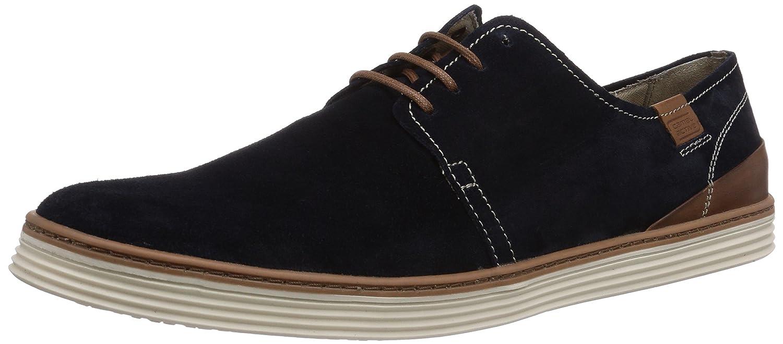 camel active Copa 21 - Zapatos con cordones de cuero Hombre 39 EU|Azul (Midnight/Brandy)