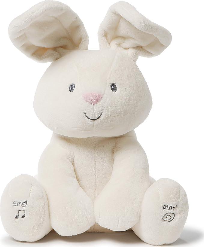 Baby GUND Animated Flora The Bunny Stuffed Animal Kids Toys Plush, Cream