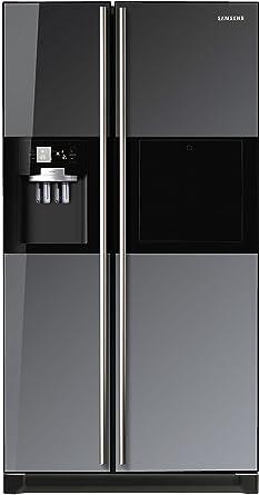 Samsung 585 L In Frost Free Double Door Refrigerator (RS21HZLMR1, Black  Mirror)