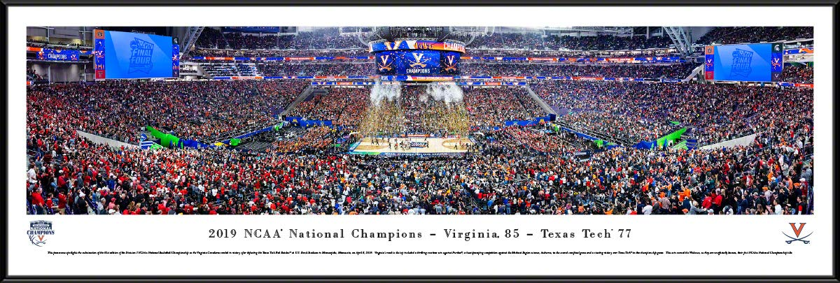 Virginia Cavaliers, 2019 NCAA Basketball Champions - Standard Framed Print by Blakeway Panoramas