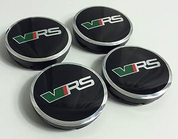Tapacubos con el logo emblema de Skoda VRS, 4 unidades, para ruedas, 56 mm, 5JA601151A, desempeño deportivo, para Skoda: Amazon.es: Coche y moto