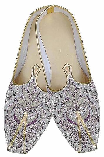 Mens Purple Indian Wedding Shoes Designer MJ0155