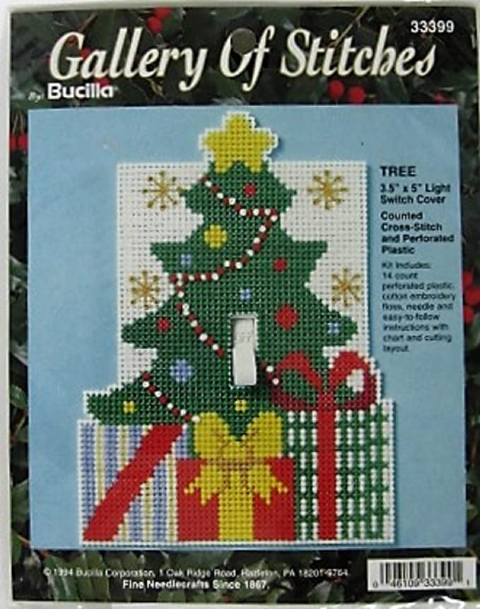 Amazoncom Christmas Tree Counted Cross Stitch Light Switch Cover