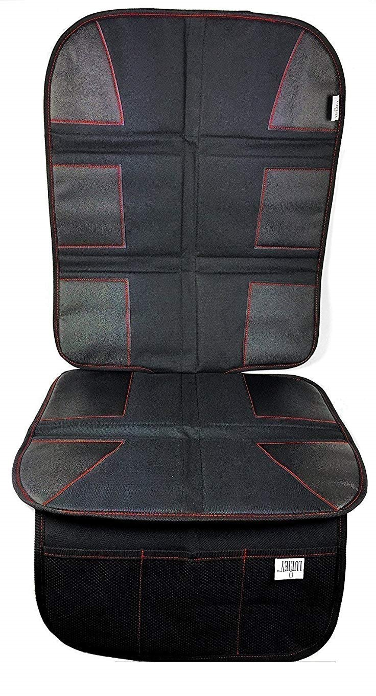 PREMIUM OXFORD Luxury Car Seat Protector - Durable 600D OXFORD Material, Black Leather
