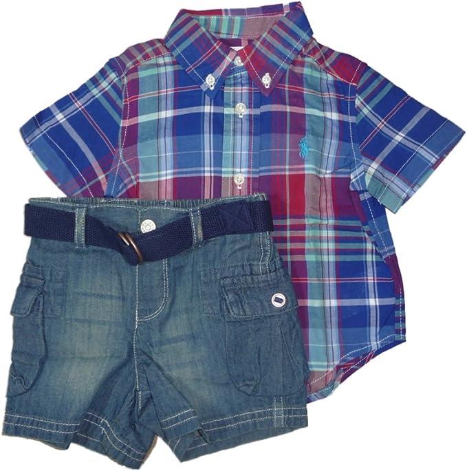 Ralph Lauren Niños Layette Baby Outfit cuadros camisa + ...