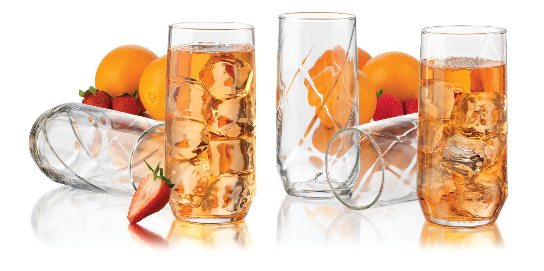 12 piece drinking glasses set 16 oz durable clear water juice glass beverage new ebay. Black Bedroom Furniture Sets. Home Design Ideas