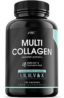Colágeno Marino Hidrolizado y Vitamina C - 200 cápsulas: Amazon.es: Salud y cuidado personal