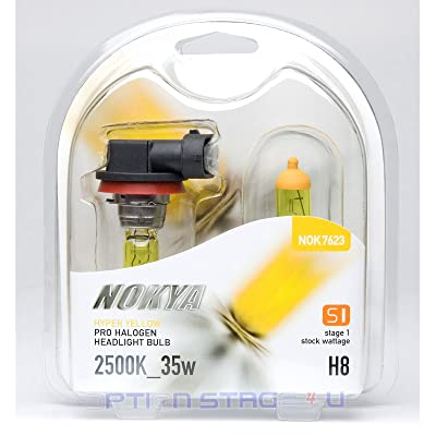 JDM H8 Nokya 2500k Hyper Yellow Head/fog Light Bulbs: Automotive