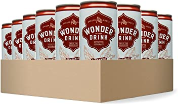 Wonder Drink Kombucha, Organic Traditional Sparkling Fermented Tea, 8.4oz Can (Pack of 24)