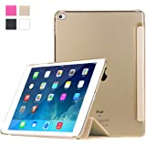 iPad Air 2 Case, HAWEEL Slim-Fit Smart Case Cover for Apple iPad Air 2 Second Edition with Auto Sleep / Wake, Gold