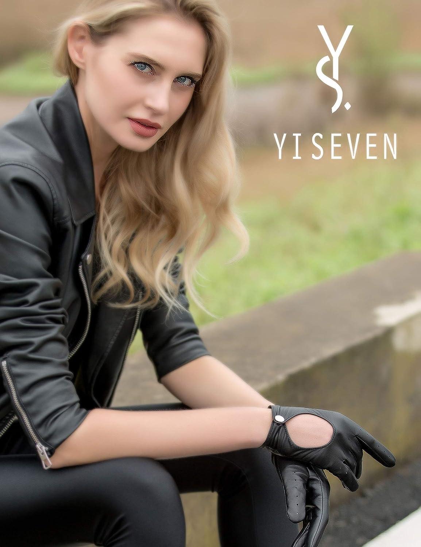 YISEVEN Damen Lederhandschuhe zum Autofahren Touchscreen