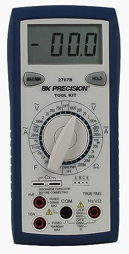 B K Precision 2707B Manual Ranging True RMS Tool Kit Digital Multimeter