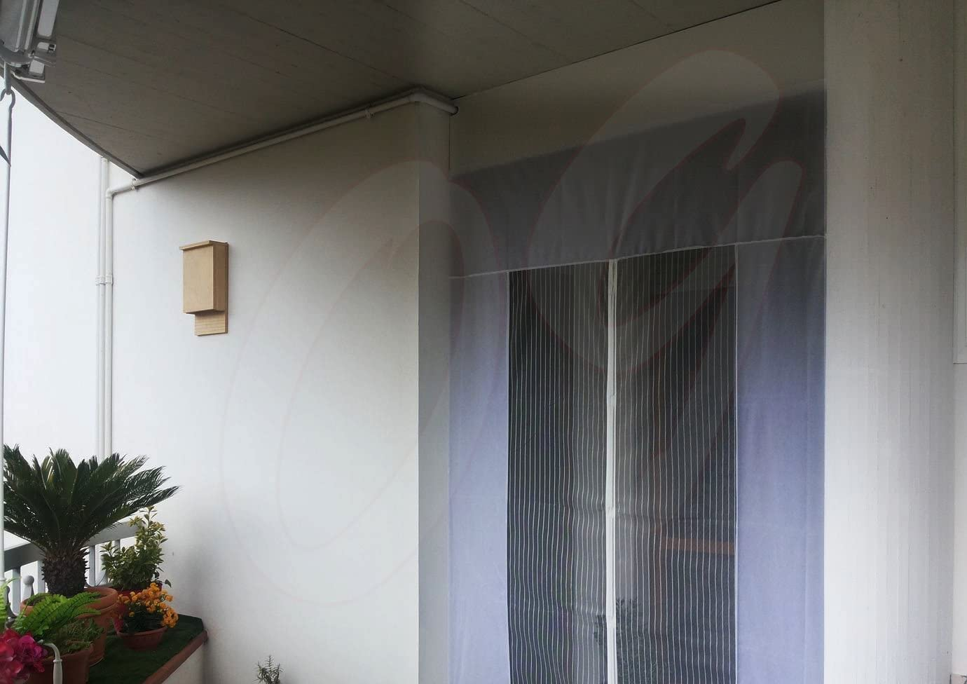 AMCER Zanzariera Magnetica 100x260cm Bianco Tende per Porte Francesi di Maglia Rete Tenda in Vetroresina
